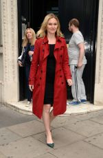 JULIA STILES Leaves KissFM Studio in London 06/12/2017