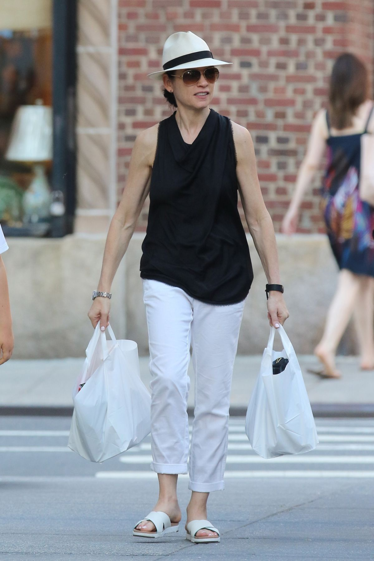 JULIANNA MARGUILES Out for Grocery Shopping in New York 06/21/2017
