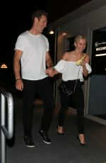 JULIANNE HOUGH and Brooks Laich Night Out in Los Angeles 06/20/2017