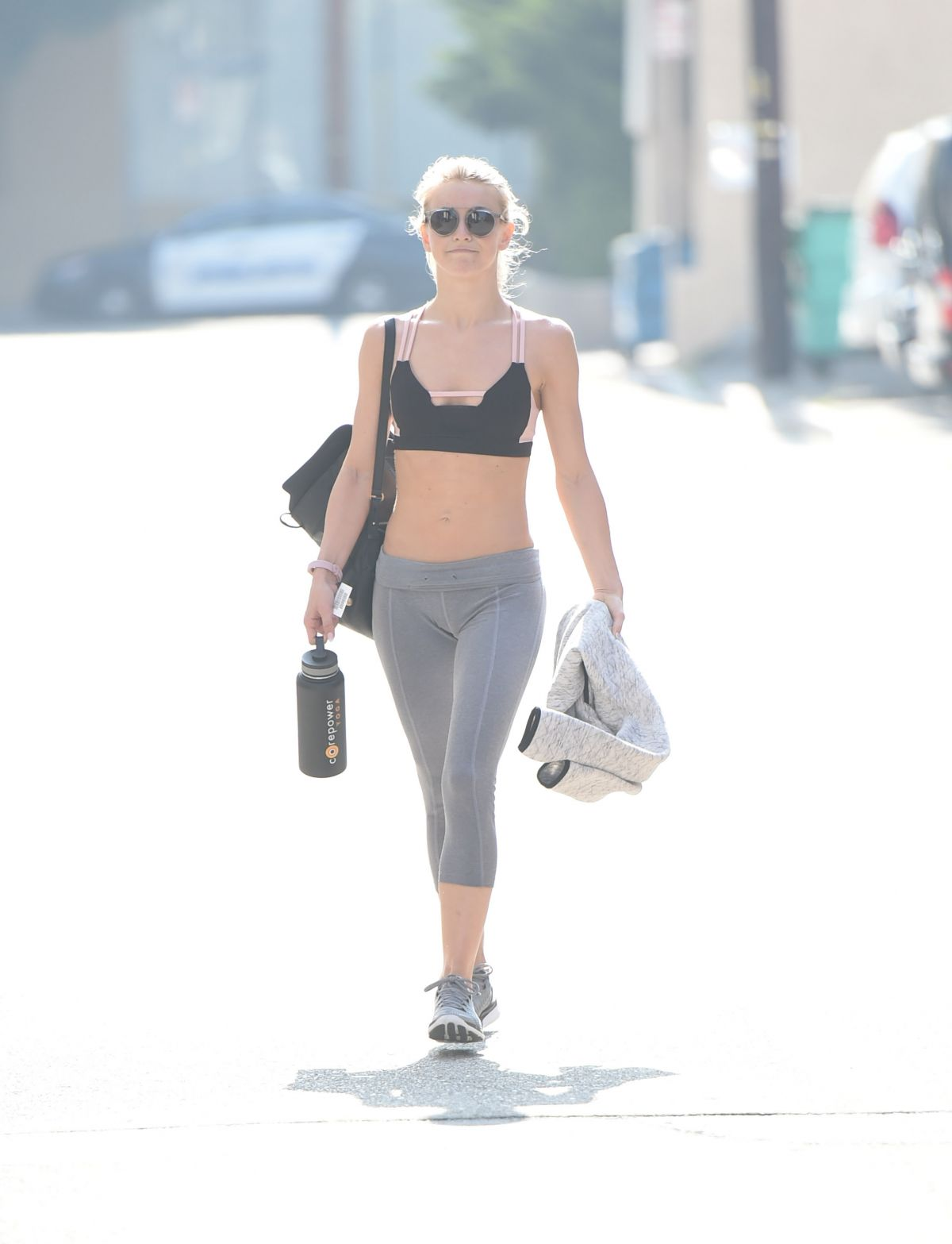 JULIANNE HOUGH in Tights Leaves a Gym in Los Angeles 06/29/2017