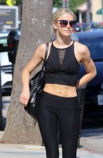 JULIANNE HOUGH Leaves Tracy Anderson Gym in Studio City 06/28/2017