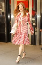 JULIANNE MOORE Leaves Empire State Building in New York 06/01/2017