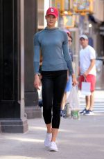 KARLIE KLOSS in Leggings Out and About in New York 06/11/2017