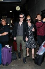 KATE BOSWORTH and Michael Polish at LAX Airport in Los Angeles 06/16/2017