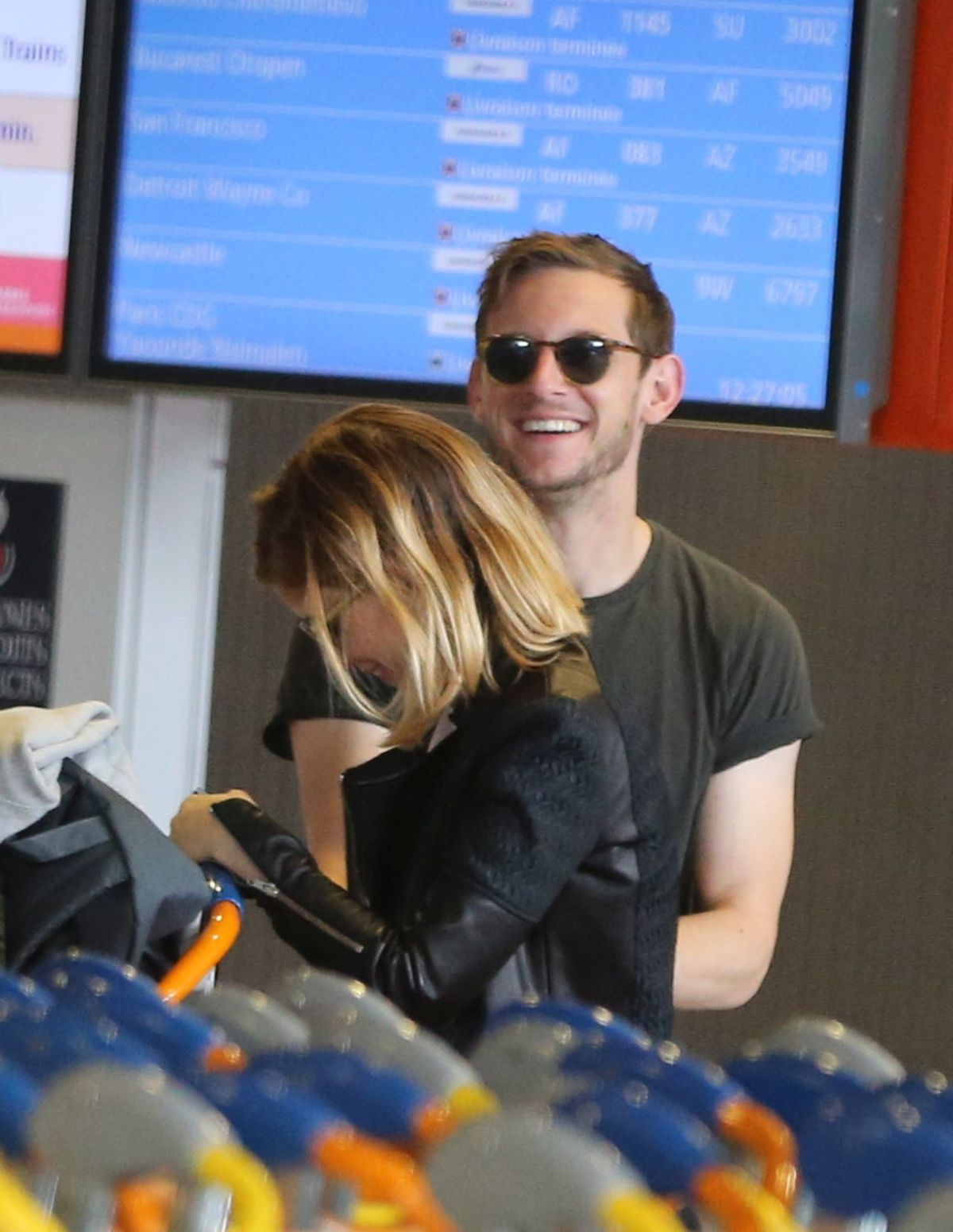 KATE MARA and JAMIE BELL at Charles De Gaulle Airport in ...