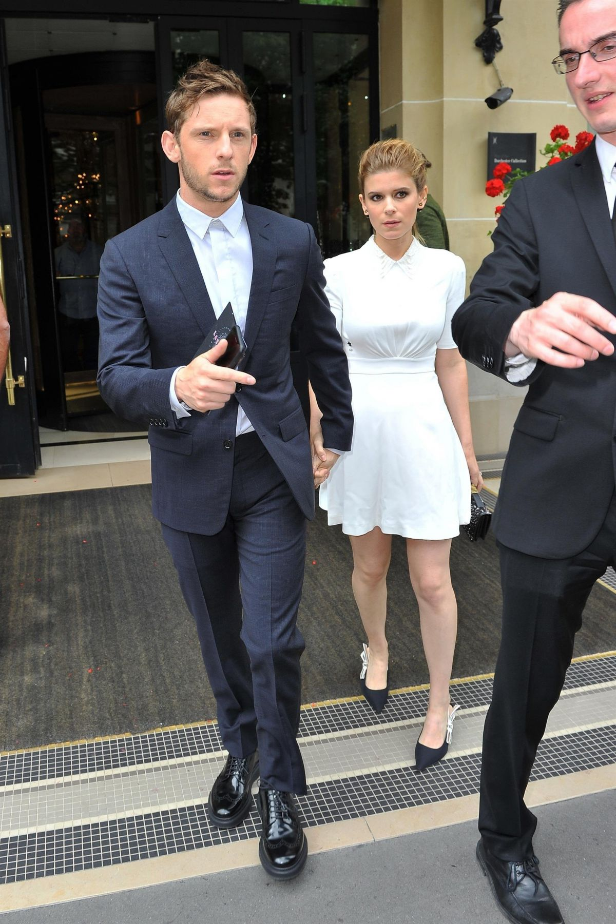 KATE MARA and Jamie Bell Leaves Their Hotel in Paris 06/24 ...