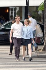 KATE MARA and Jamie Bell Out in Paris 06/24/2017