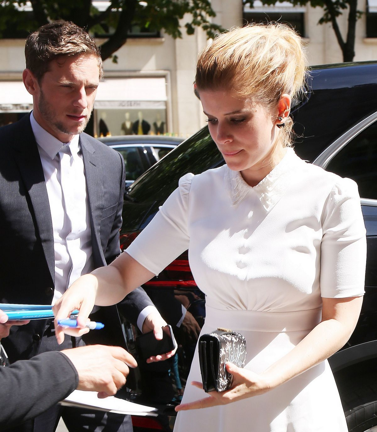KATE MARA and JAMIE BELLE Arrives at Plaza Athenee Hotel in Paris 06/24/2017