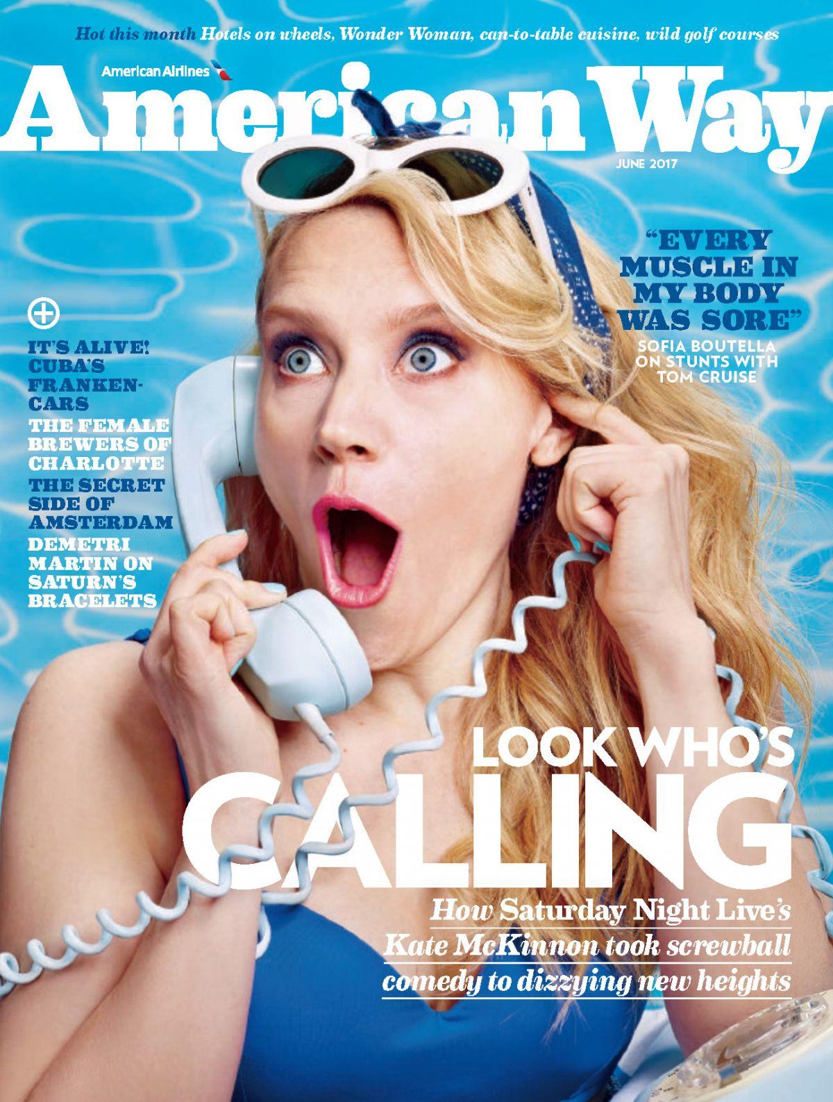 KATE MCKINNON in American Way Magazine, July 2017