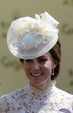 KATE MIDDLETON at First Day of Royal Sscot in Berkshire 06/20/2017