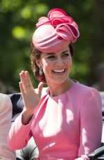 KATE MIDDLETON at Annual Trooping the Colour Parade in London 06/17/2017