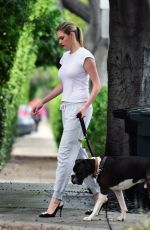 KATE UPTON Out Walks Her Dog in West Hollywood 05/13/2017