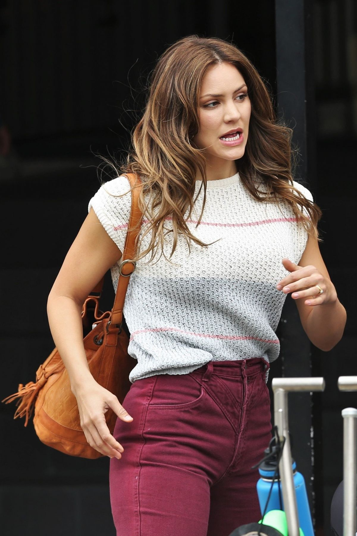 KATHARINE MCPHEE on the Set of The Lost Wife of Robert Durst in Vancouver 06/10/2017
