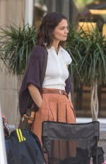 KATIE HOLMES on the Set of The Gift in Montreal 06/22/2017