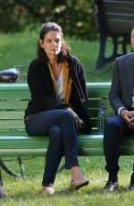 KATIE HOLMES on the Set of The Gift in Montreal 06/27/2017