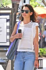 KATIE HOLMES Out Shopping in Los Angeles 06/04/2017