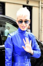 KATY PERRY Arrives at Hotel Meurice in Paris 06/02/2017