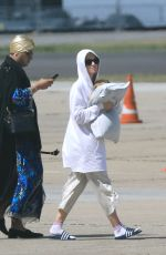 KATY PERRY Boarding a Private Jet at Le Bourget Airport 06/04/2017