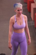 KATY PERRY in Tights at Tracy Anderson Gym in Los Angeles 06/12/2017