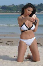 KAYLLEIGH MORRIS in Bikini on the Beach in Spain 06/20/2017