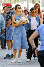 KENDALL JENNER Out with Her Dog in Beverly Hills 06/18/2017