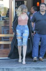 KHLOE KARDASHIAN in Tight Ripped Jeans Out in Los Angeles 06/21/2017
