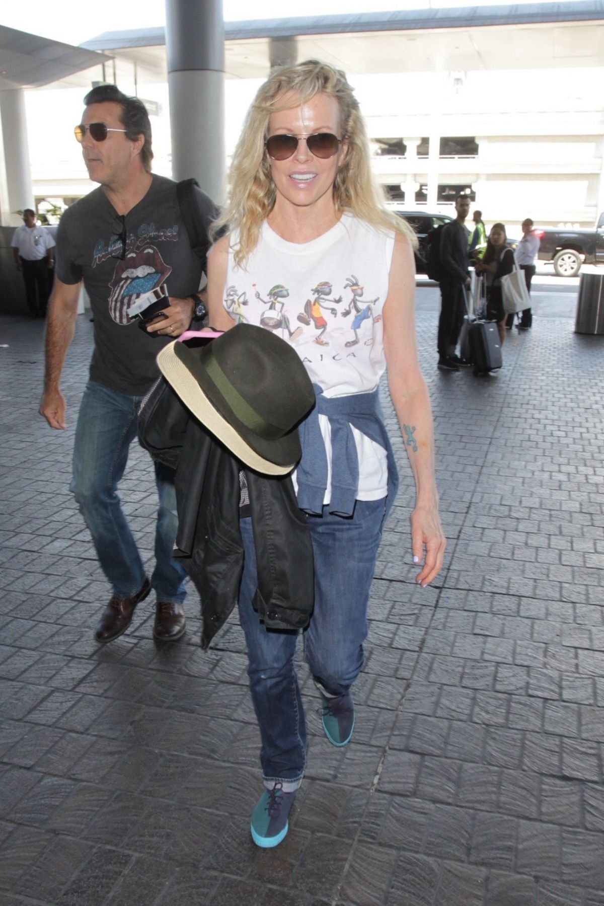 KIM BASINGER at LAX Airport in Los Angeles 06/22/2017