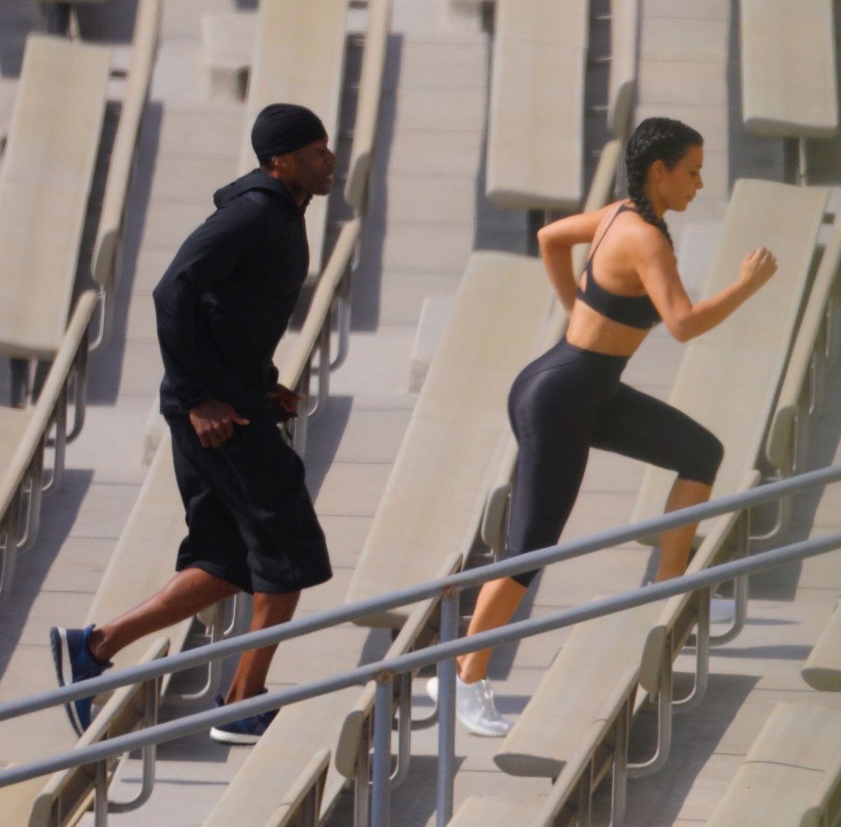 Working Out: KIM KARDASHIAN Working Out In Los Angeles 06/24/2017
