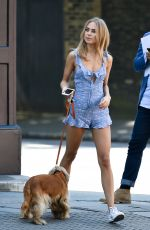 KIMBERLEY GARNER Out with Her Dog in London 06/21/2017