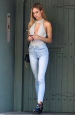 KIMBERLY GARNER in Tight Jeans Out in London 06/14/2017