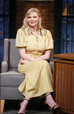 KIRSTEN DUNST at Late Night with Seth Meyers 06/19/2017