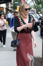 KIRSTEN DUNST Heading to Today Show in New York 06/19/2017