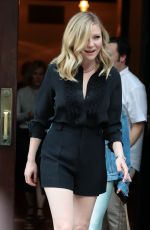 KIRSTEN DUNST Leaves Her Hotel in New York 06/15/2017