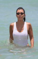 KOURTNEY KARDASHIAN in Swimsuit at a Beach in Miami 06/11/2017