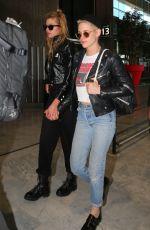 KRISTEN STEWART and STELLA MAXWELL at CDG Airport in Paris 06/12/2017