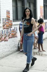 KRYSTEN RITTER on the Set of Jessica Jones Season 2 in New York 06/23/2017