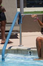 LADY VICTORIA HERVEY in Bikini at a Pool in Palm Springs 06/06/2017