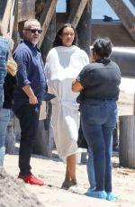 LAIS RIBEIRO on the Set of a Photoshoot in Malibu 06/12/2017