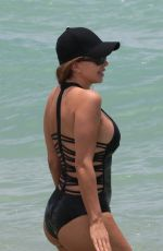 LARSA PIPPEN in Swimsuit on the Beach in Miami 06/11/2017