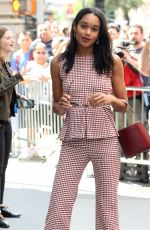 LAURA HARRIER Arrives at AOL Studios in New York 06/26/2017