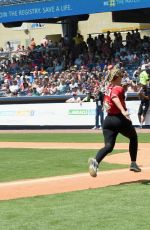LAUREN ALAINA at 27th Annual City of Hope Celebrity Softball Game in Nashville 06/10/2017