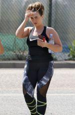LAUREN GOODGER Leaves a Gym in Essex 06/15/2017