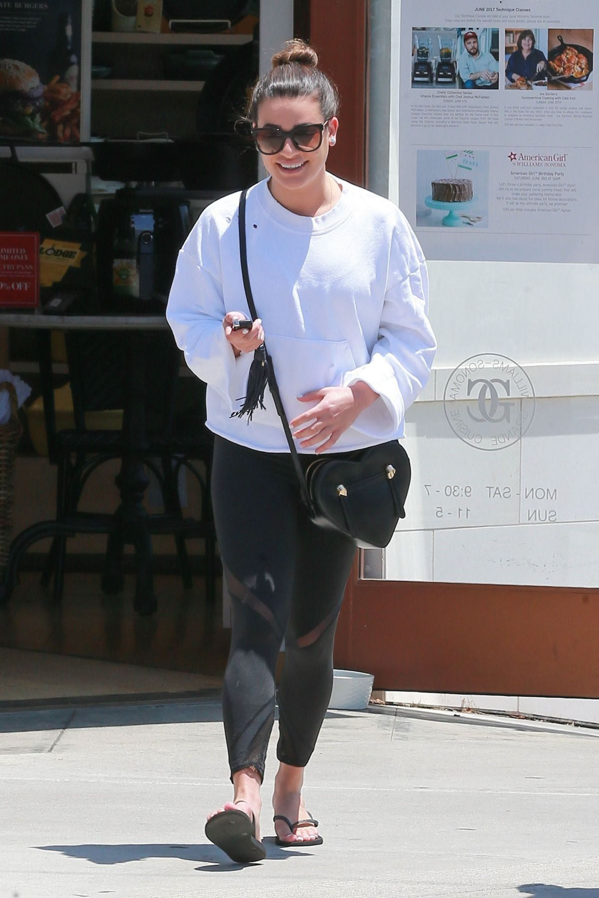 LEA MICHELE at a Nail Salon in Brentwood 06/11/2017