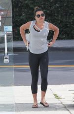 LEA MICHELE Heading to a Gym in Brentwood 06/23/2017