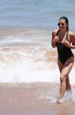 LEA MICHELE in Swimsuit at a Beach in Maui 06/28/2017