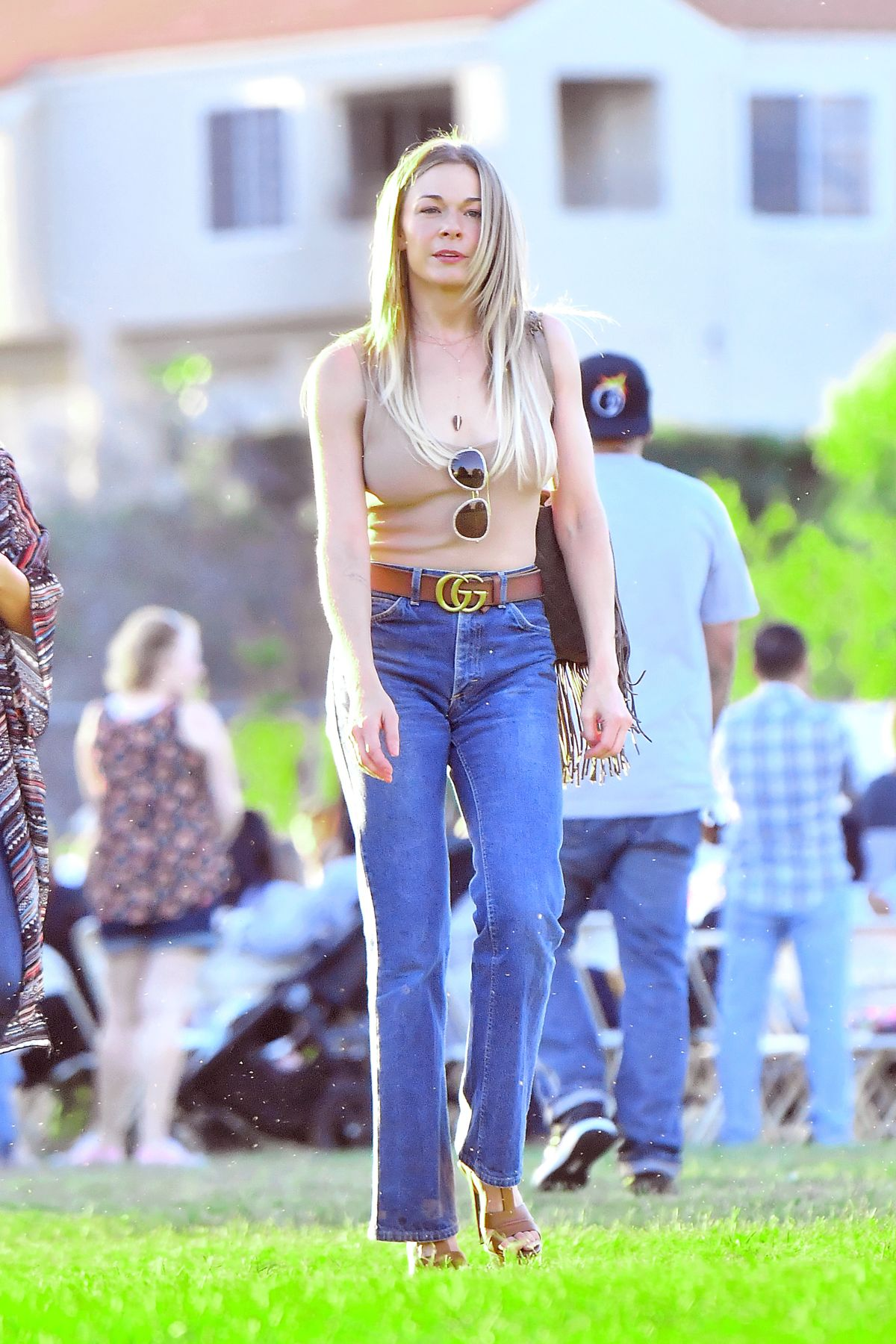 LEANN RIMES in Tight Jeans Out in Calabasas 06/17/2017