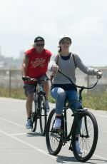 LEIGHTON MEESTER Out Riding a Bike in Los Angeles 06/12/2017