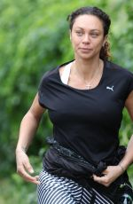 LILLY BECKER Out Jogging in London 06/27/2017