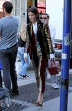 LILY ALDRIDGE Out in New York 06/02/2017