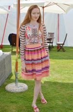LILY COLE at Cartier Queen's Cup Polo Final in Surrey 06/18/2017